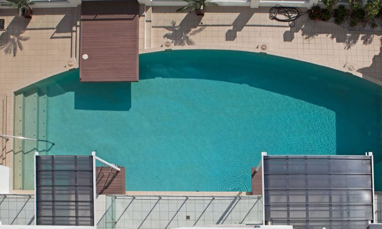 Aerial Watersedge pool Cairns Holiday Accommodation